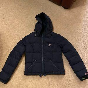 Dark Blue Hollister Puff Jacket